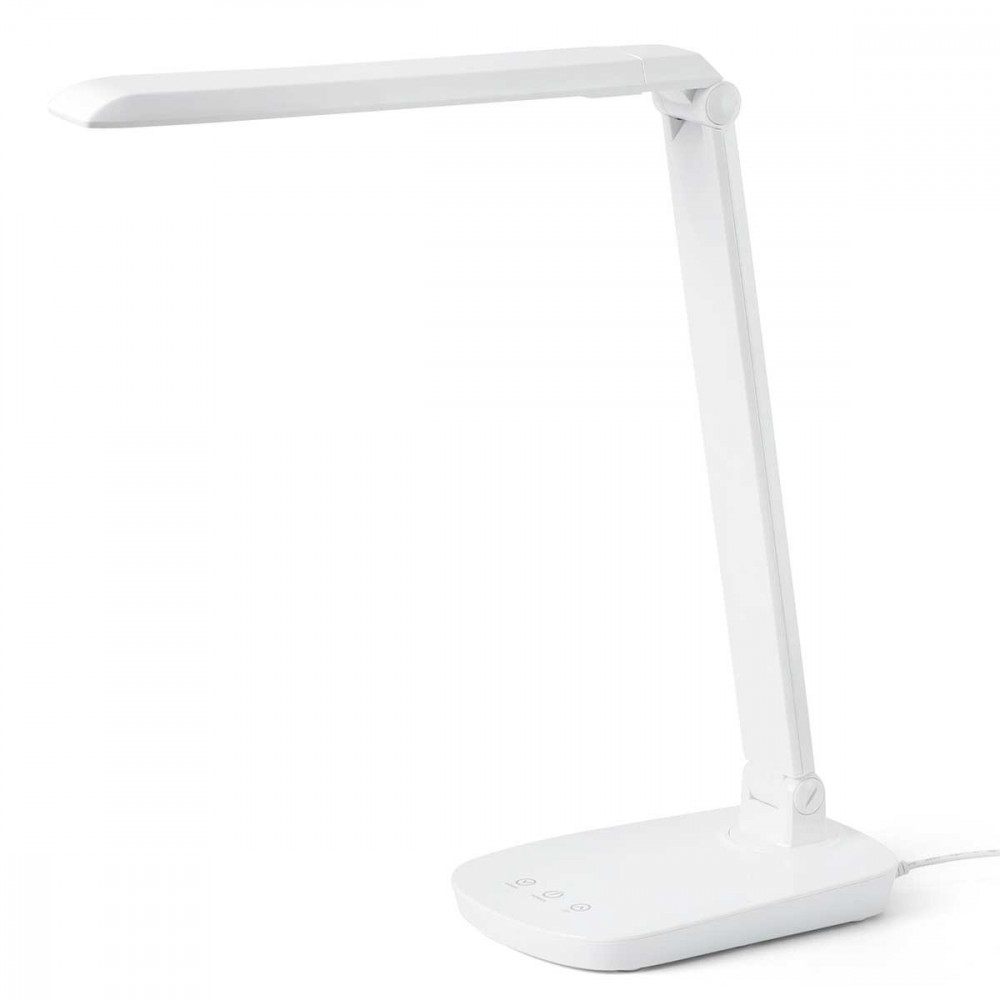 Lampe de bureau blanche tactile avec variateur de lumi re for Lampe exterieur blanche