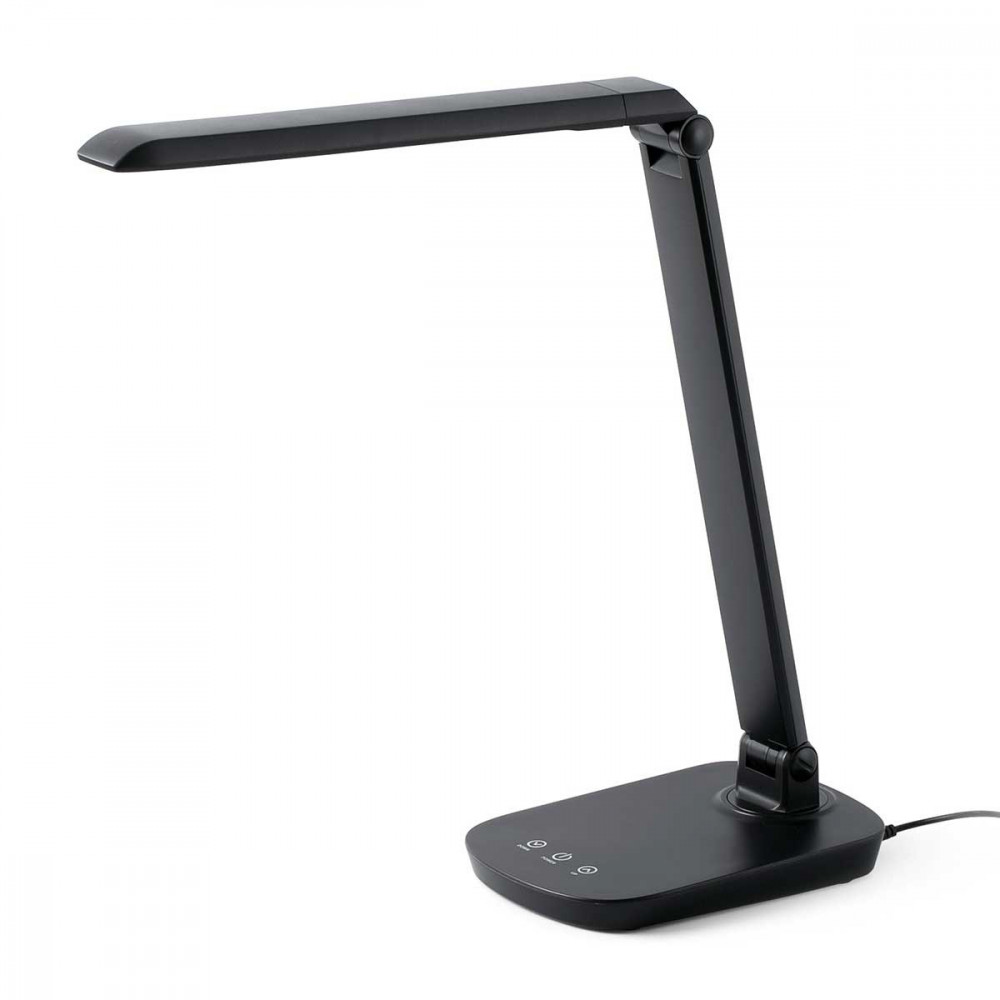 lampe bureau noire led tactile avec variateur de lumi re. Black Bedroom Furniture Sets. Home Design Ideas