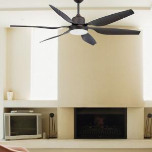Plafonnier ventilateur acier