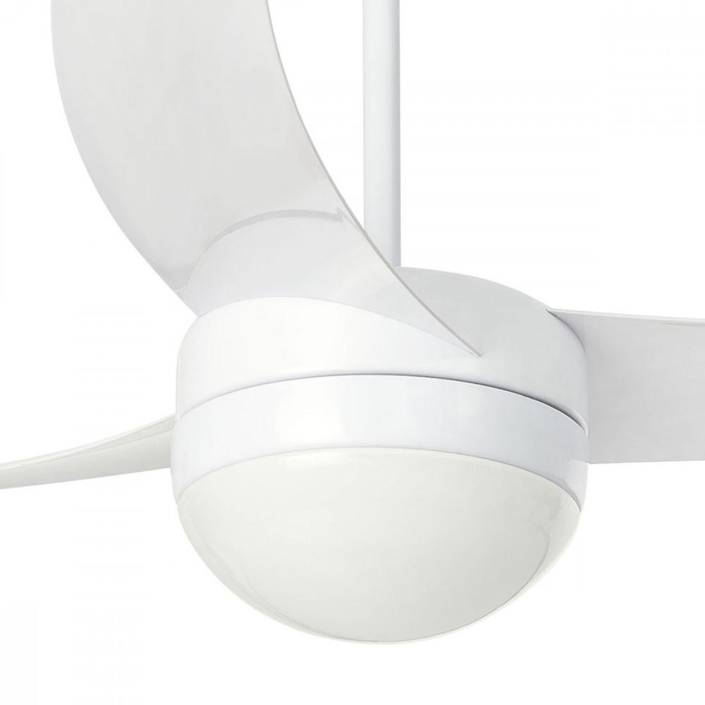 Ventilateur plafonnier blanc design moderne. vente sur lampe avenue