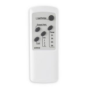 Ventilateur télécommandé blanc