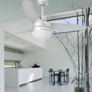 Ventilateur lumineux gris