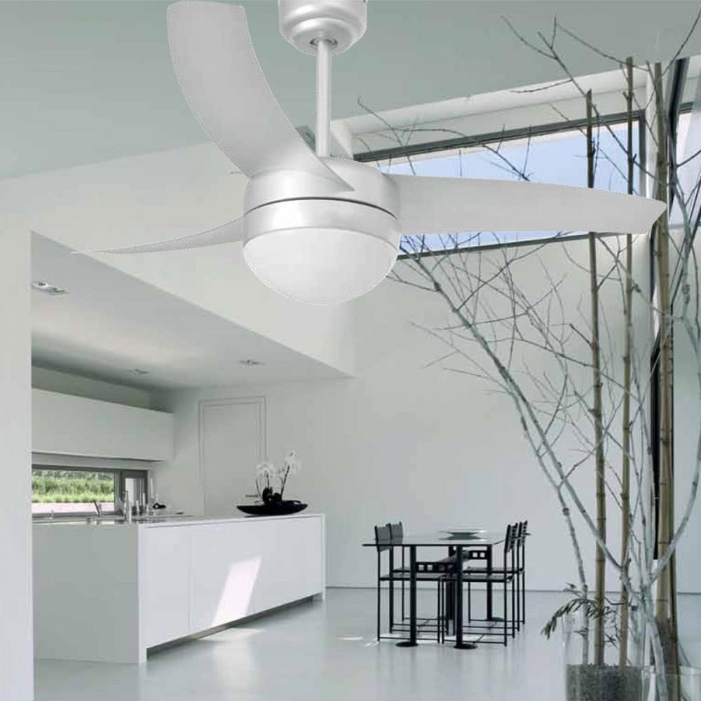 ventilateur moderne gris avec lumi re en vente sur lampe avenue. Black Bedroom Furniture Sets. Home Design Ideas