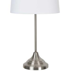 Lampe en métal abat jour blanc