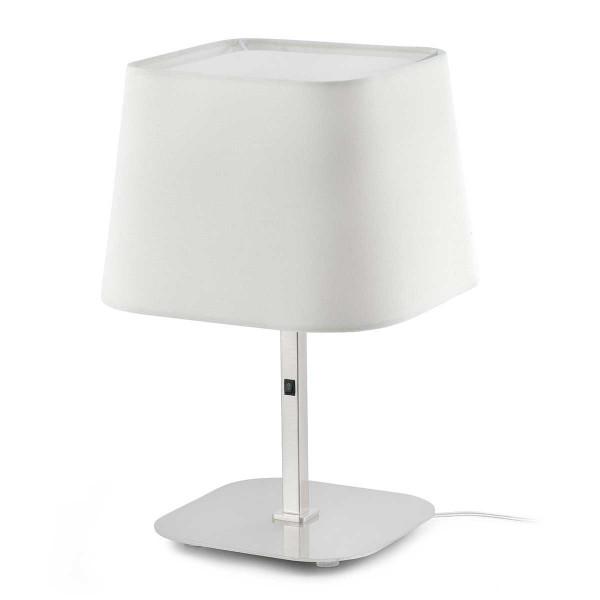 Lampe salon nickel mat