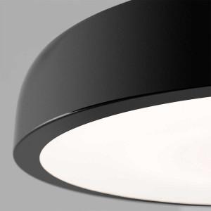 grand plafonnier noir LED