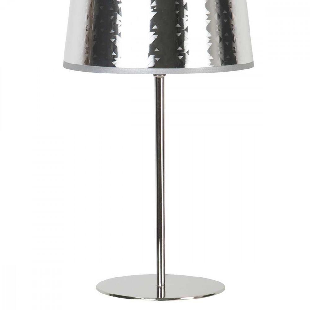 lampe poser enti rement en m tal brillant abat jour et pied style chic sur lampe avenue. Black Bedroom Furniture Sets. Home Design Ideas