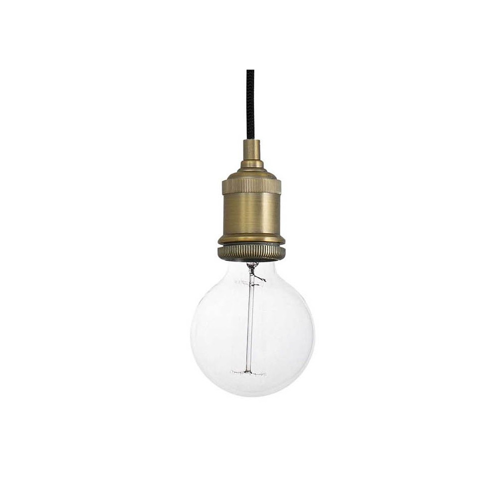 Lustre ampoule latest lampe suspension atto noire with - Suspension ampoule vintage ...