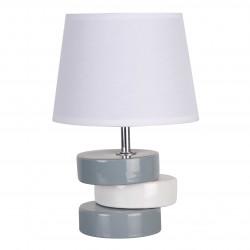 Petite lampe céramique blanche et grise