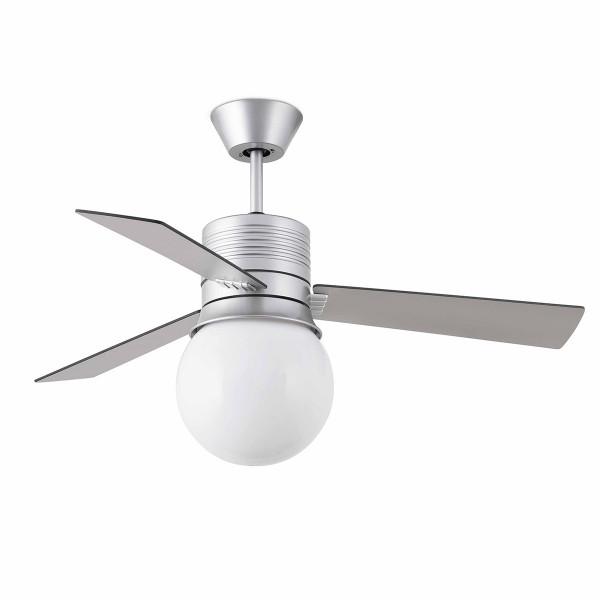 ventilateur gris lumineux en forme de grosse ampoule sur lampe avenue. Black Bedroom Furniture Sets. Home Design Ideas