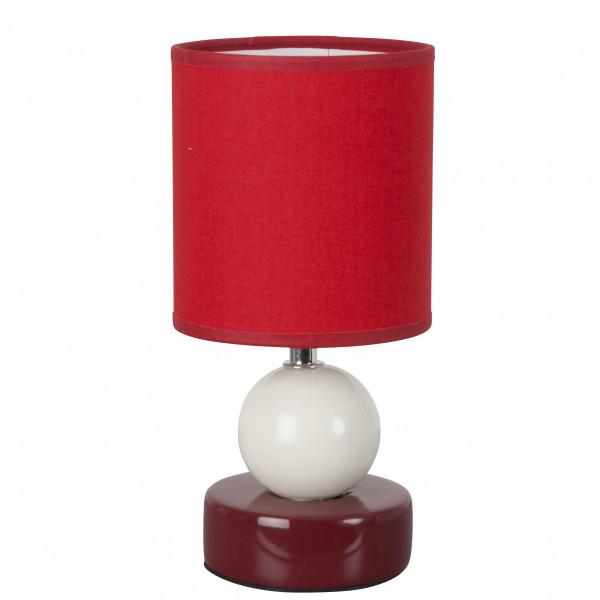 Petite lampe rouge en c ramique d co et originale avec sa for Petite lampe exterieur