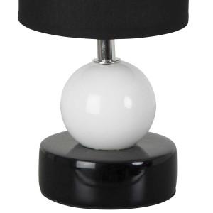 Petite lampe chevet noire chic en céramique