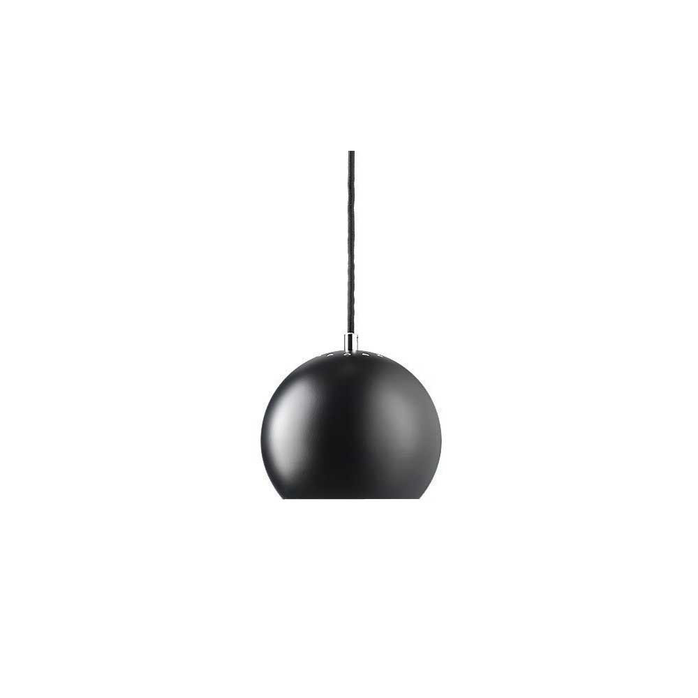 Suspension ball design en m tal noir mat frandsen lampe for Lampe suspendu noir