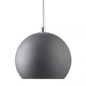 Suspension boule gris mat