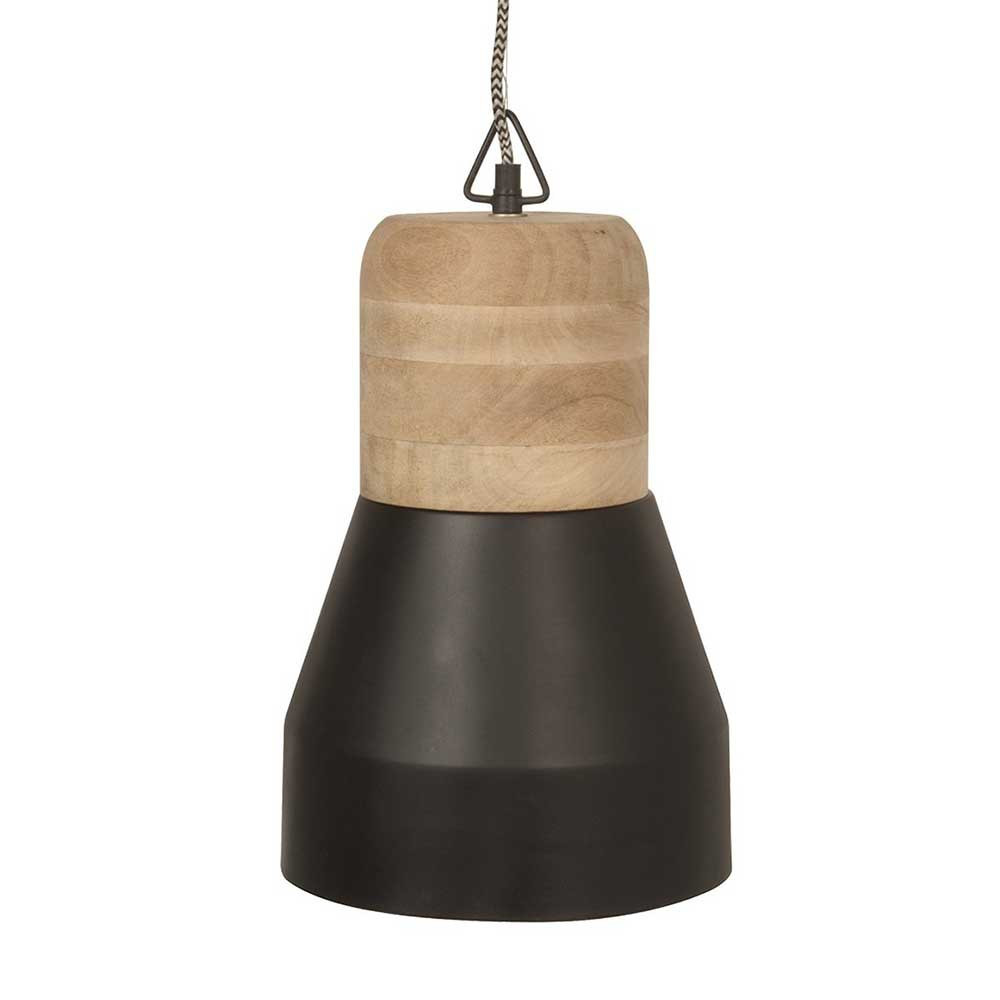 Suspension bois et m tal noir mat en vente sur lampe avenue for Suspension metal noir