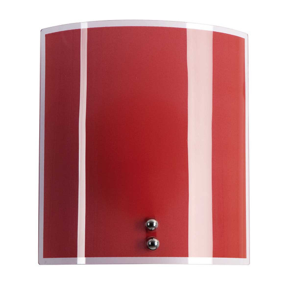 applique demi lune en verre imprim couleur rouge basque d co moderne lampe avenue. Black Bedroom Furniture Sets. Home Design Ideas