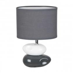 Lampe de chevet galets blanc et gris anthracite