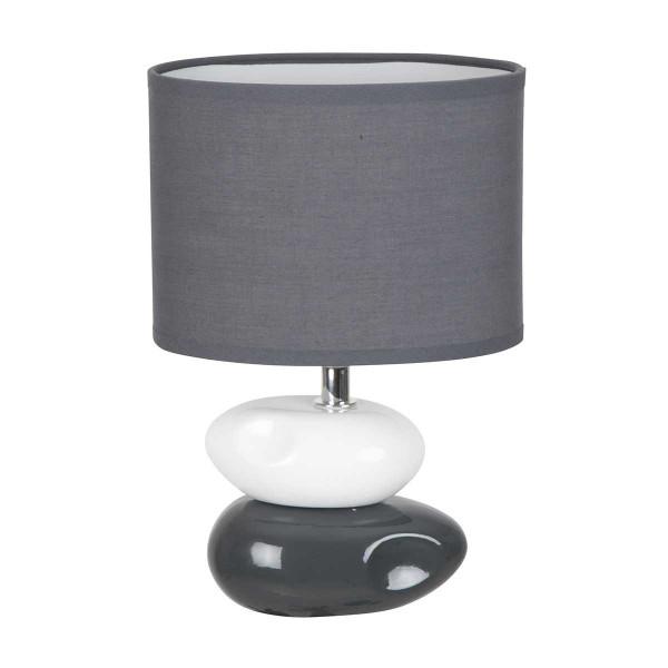 lampe a poser grise et blanc