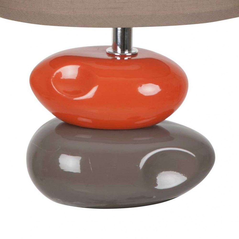 lampe chevet galets taupe orange 5 Incroyable Lampe Chevet Taupe Ksh4