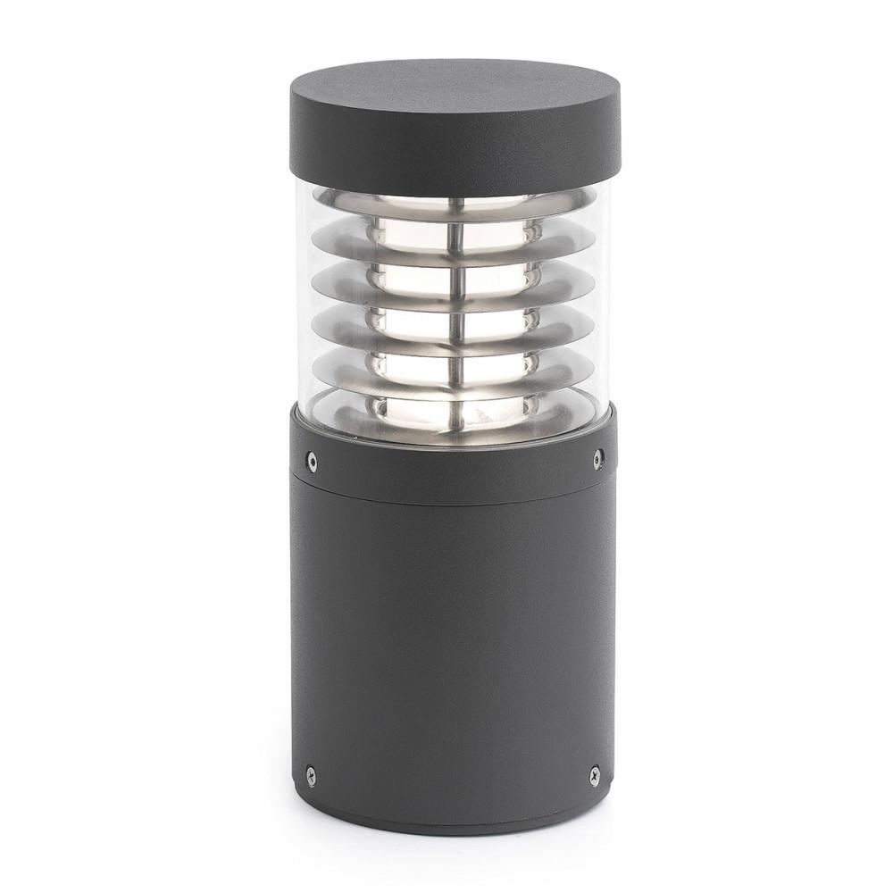 Borne led design grise en alu pour l ext rieur lampe avenue for Borne eclairage exterieur