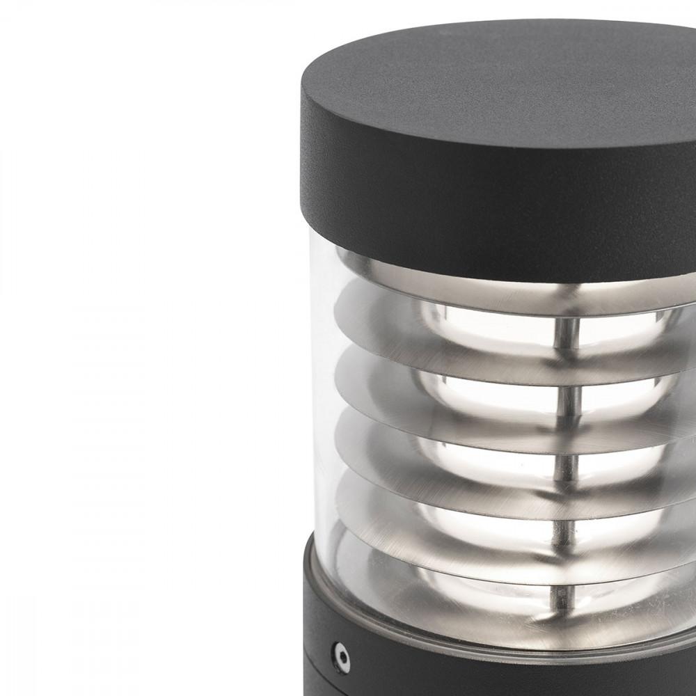 Borne led design grise en alu pour l ext rieur lampe avenue for Eclairage jardin led electrique