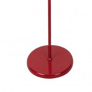 Lampadaire métal rouge.