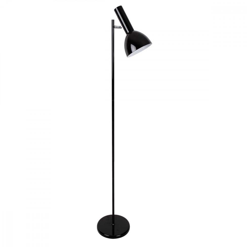 lampadaire en m tal peint noir t te articul e orientable interrupteur orientable sur lampe avenue. Black Bedroom Furniture Sets. Home Design Ideas