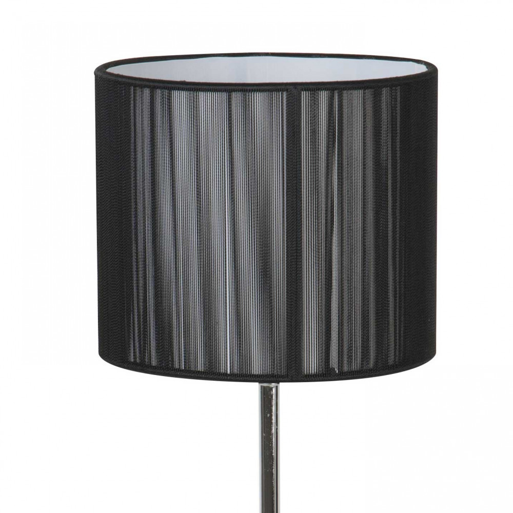 lampe poser en m tal avec abat jour noir paillet style. Black Bedroom Furniture Sets. Home Design Ideas