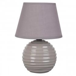 Lampe chevet boule céramique brillante taupe