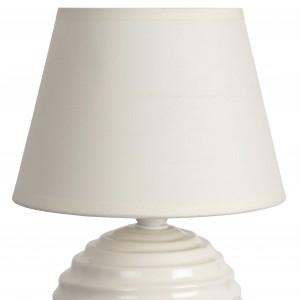 Lampe chevet boule crème