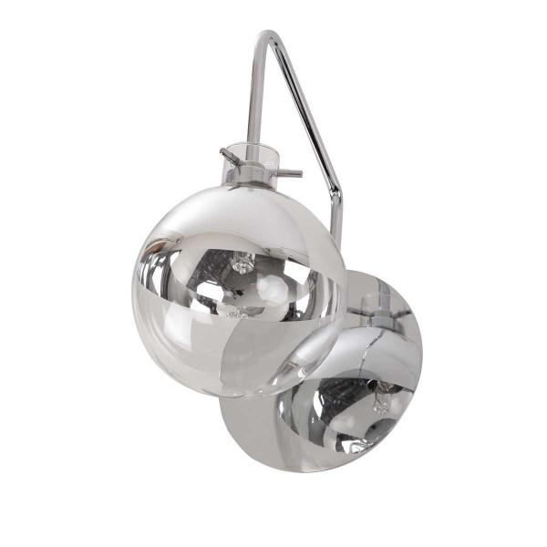 Applique boule en m tal et verre souffl forme ampoule for Applique boule exterieur