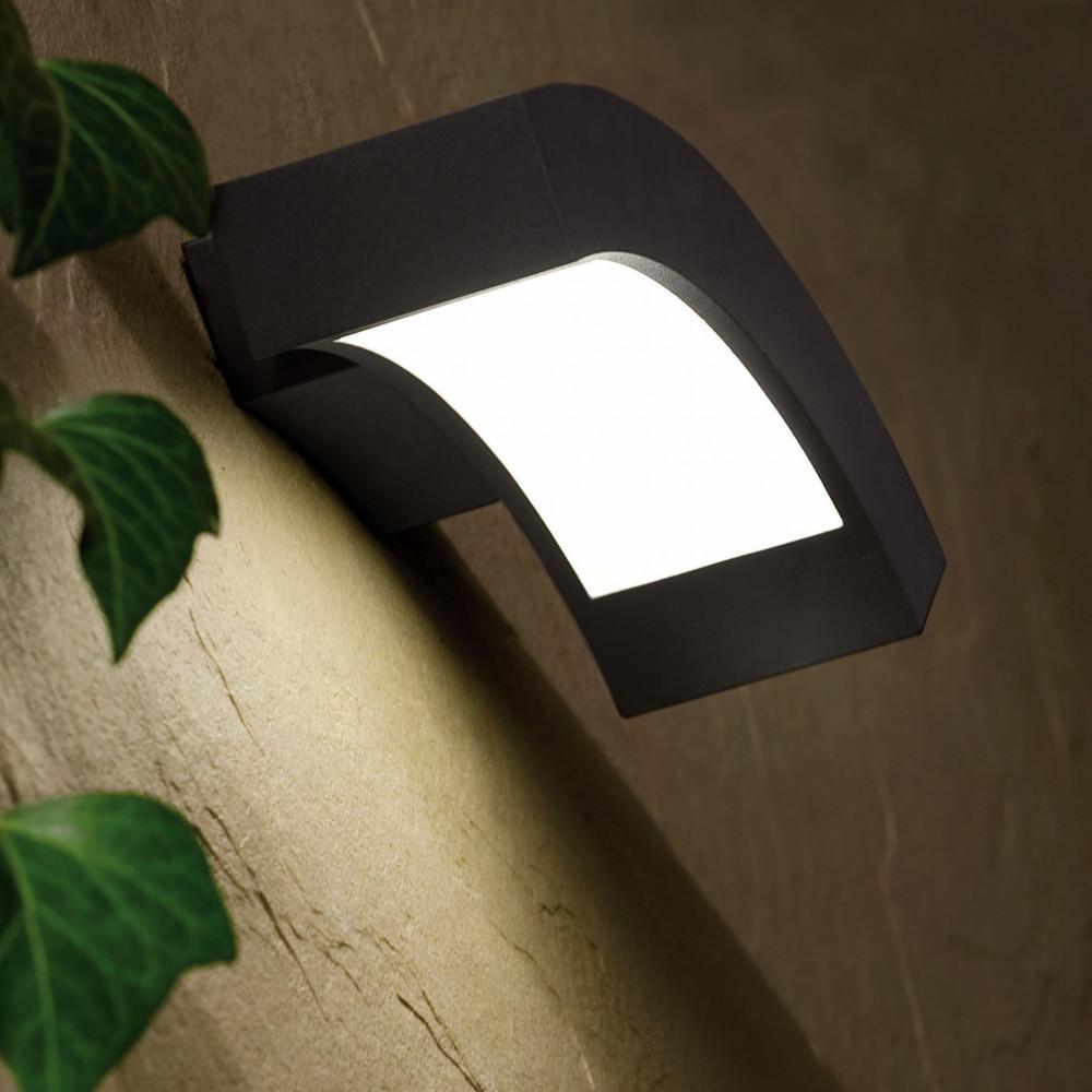 Applique led design alu gris pour l 39 ext rieur en vente - Applique exterieur led eclairage exterieur ...