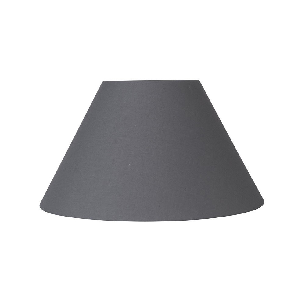 abat jour rond conique gris fonce en coton lampe avenue. Black Bedroom Furniture Sets. Home Design Ideas