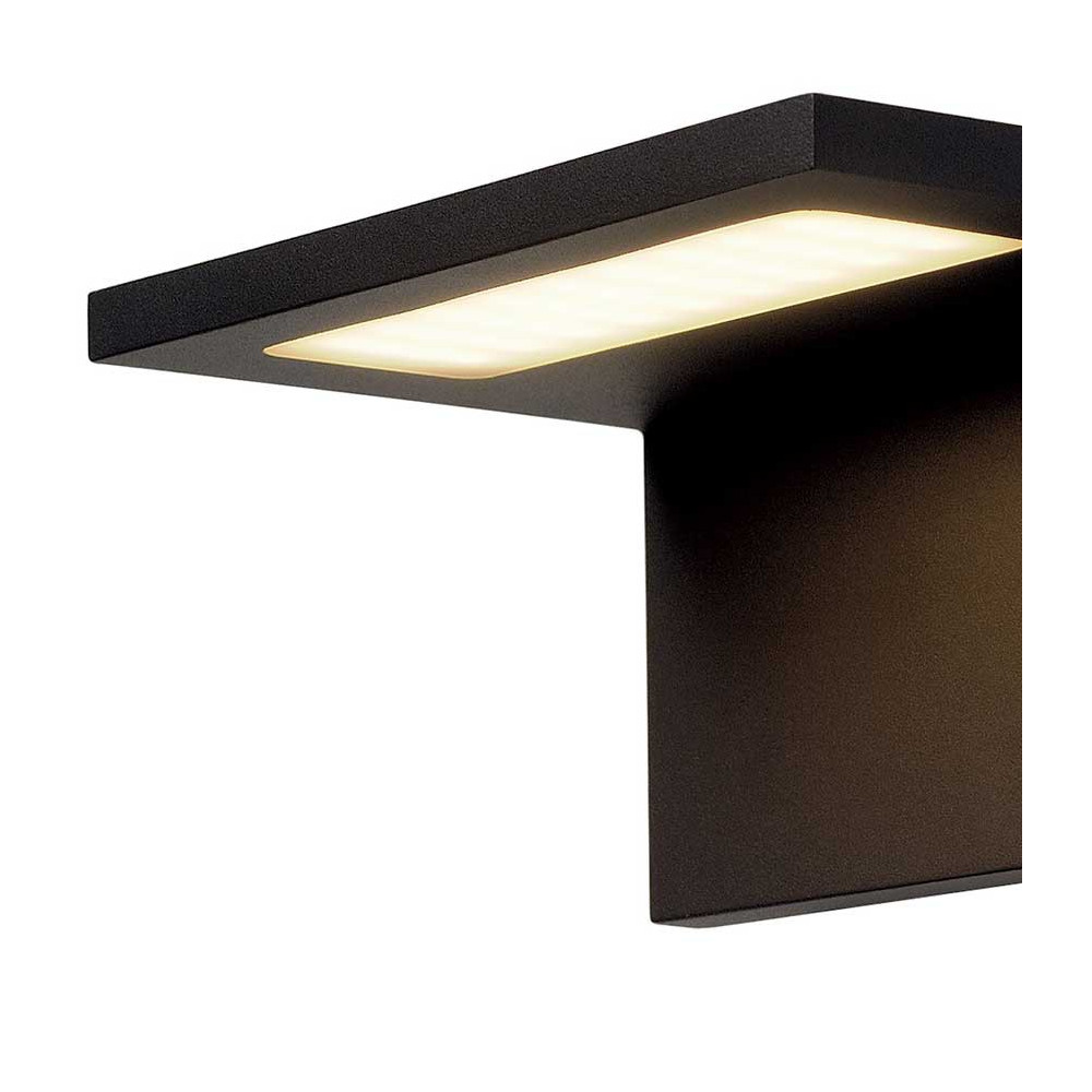 Applique ext rieure grise led moderne et design en alu for Applique exterieur