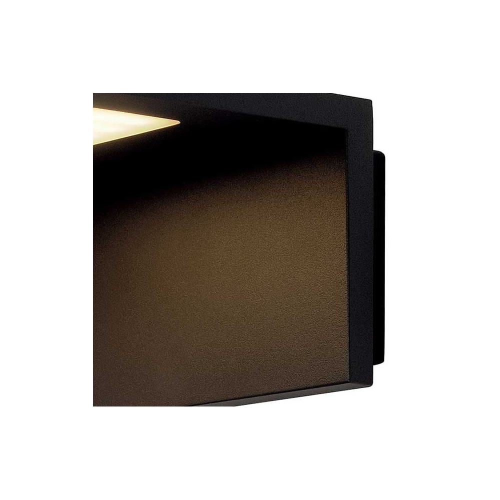 Applique ext rieure grise led moderne et design en alu for Spot applique exterieur