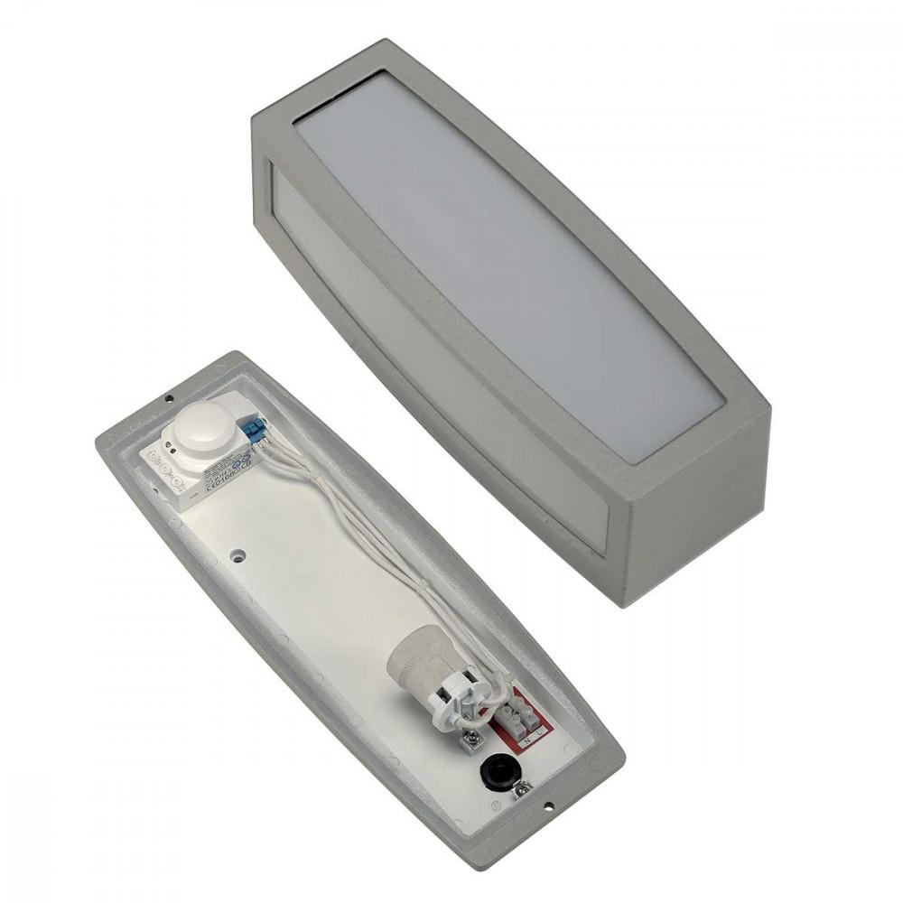 Applique gris clair avec un d tecteur de mouvement invisible for Applique exterieur avec detecteur