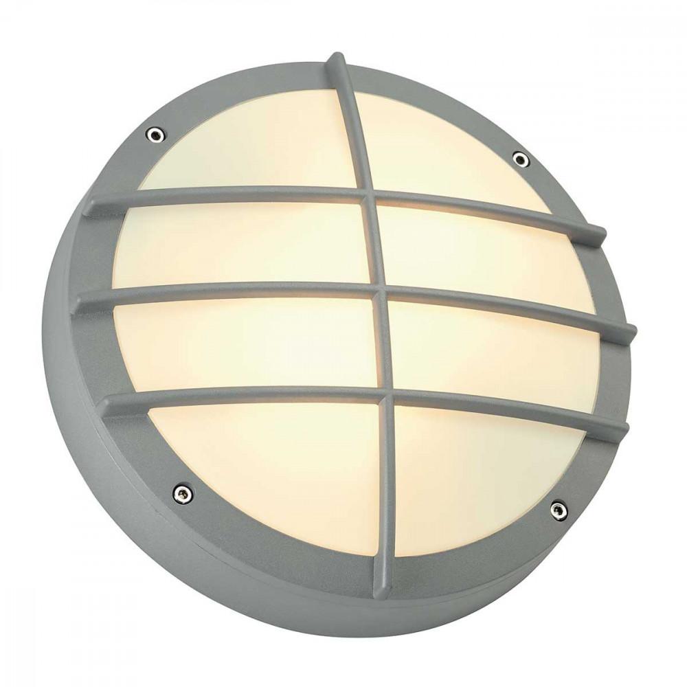 Applique hublot gris clair avec diffuseur luminaire for Suspension exterieure avec detecteur