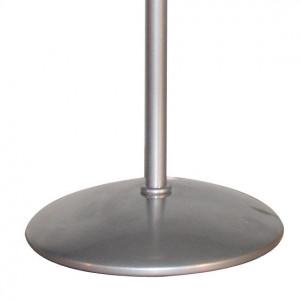 Pied lampe à poser gris