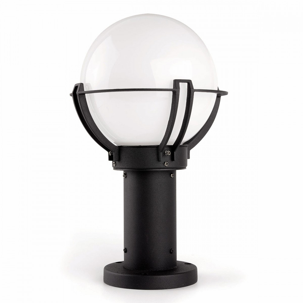 borne d 39 clairage forme globe luminaire ext rieur sur lampe avenue. Black Bedroom Furniture Sets. Home Design Ideas