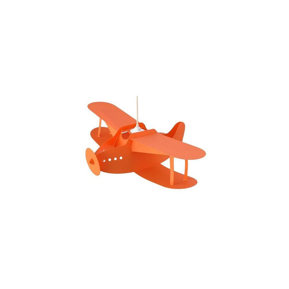 suspension enfant avion orange luminaire enfant sur lampe avenue. Black Bedroom Furniture Sets. Home Design Ideas