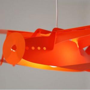 Suspension avion orange