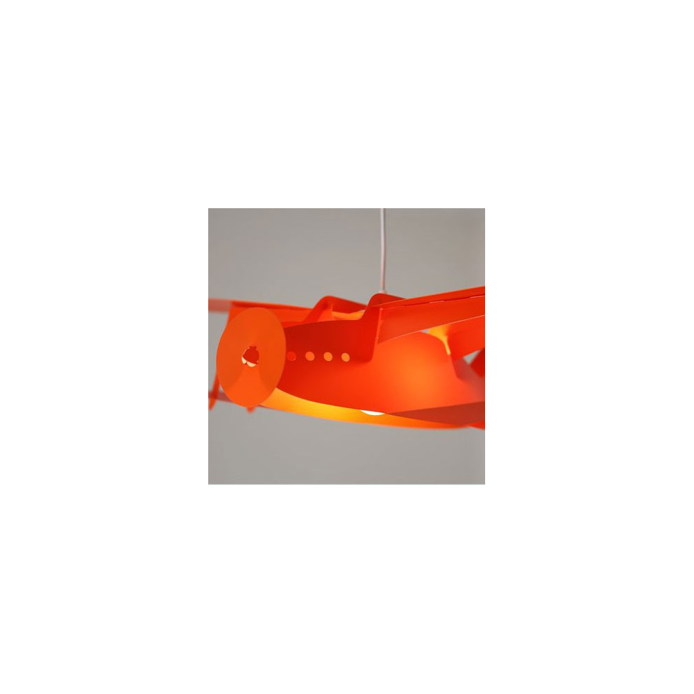 suspension enfant avion orange luminaire enfant sur lampe avenue. Black Bedroom Furniture Sets. Home Design Ideas