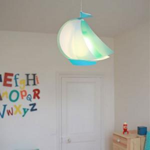 Luminaire enfant bateau bleu