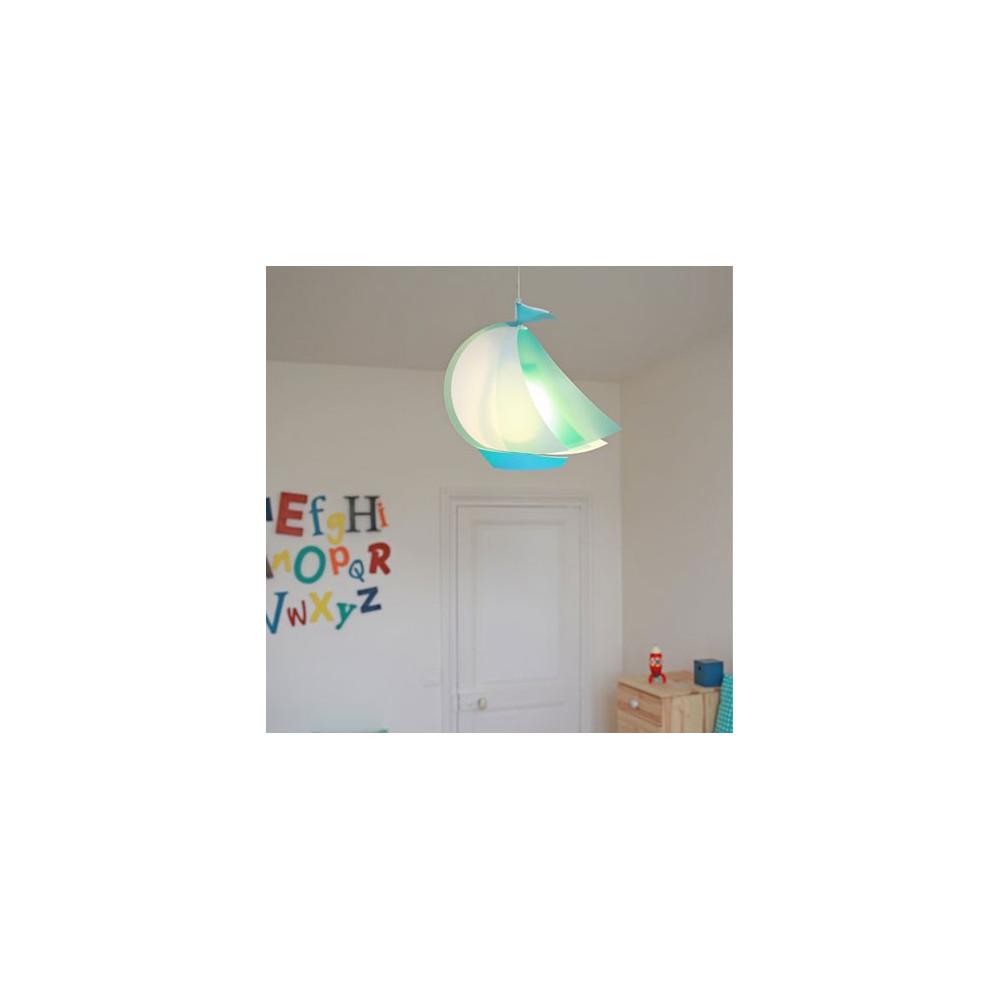 suspension enfant bateau bleu luminaire enfant sur lampe avenue. Black Bedroom Furniture Sets. Home Design Ideas