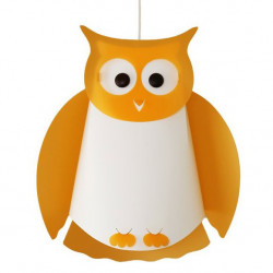 Suspension enfant hibou orange