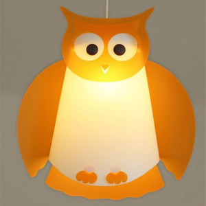 lampe hibou orange