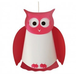Suspension enfant rose hibou