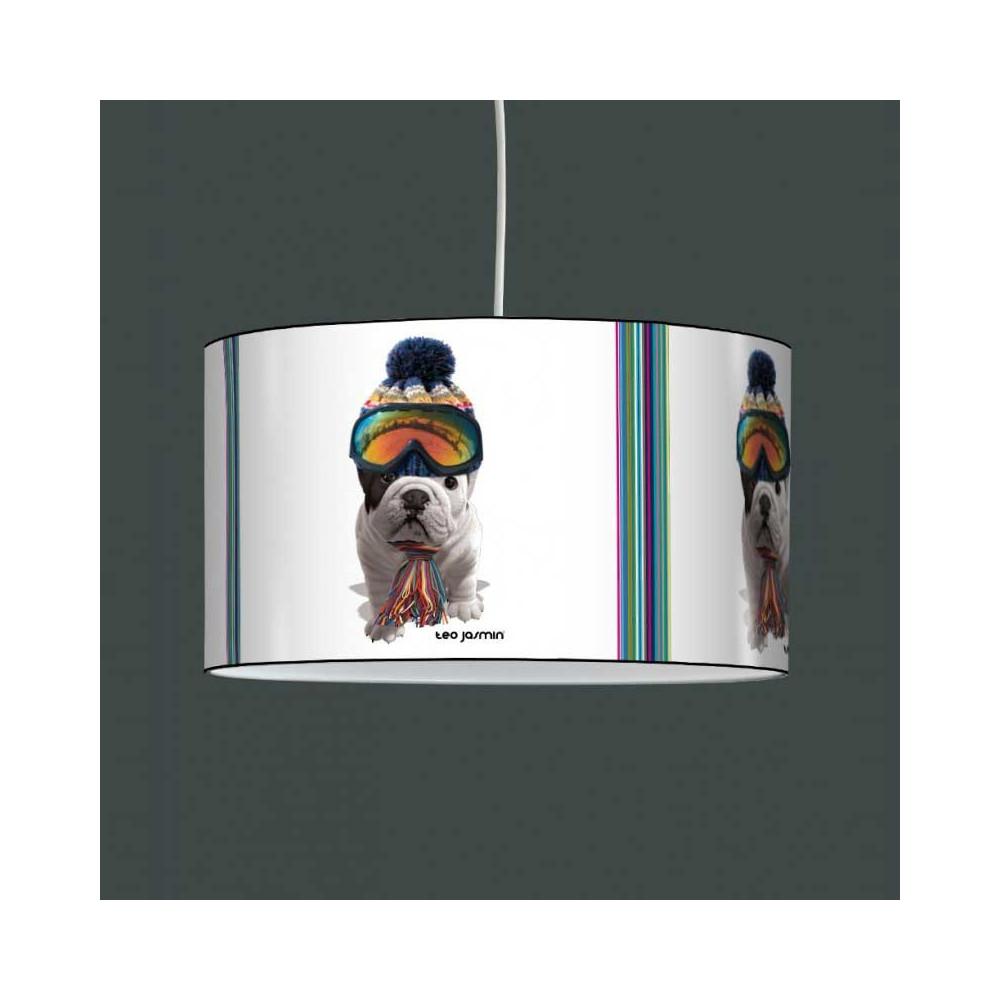 suspension luminaire enfant avec chien t o jasmin au ski. Black Bedroom Furniture Sets. Home Design Ideas