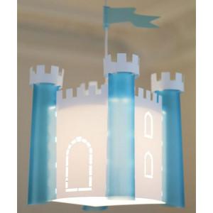 luminaire chateau fort bleu
