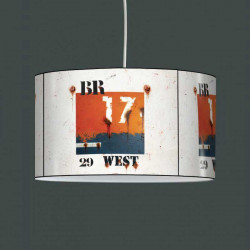 Suspension luminaire West orange